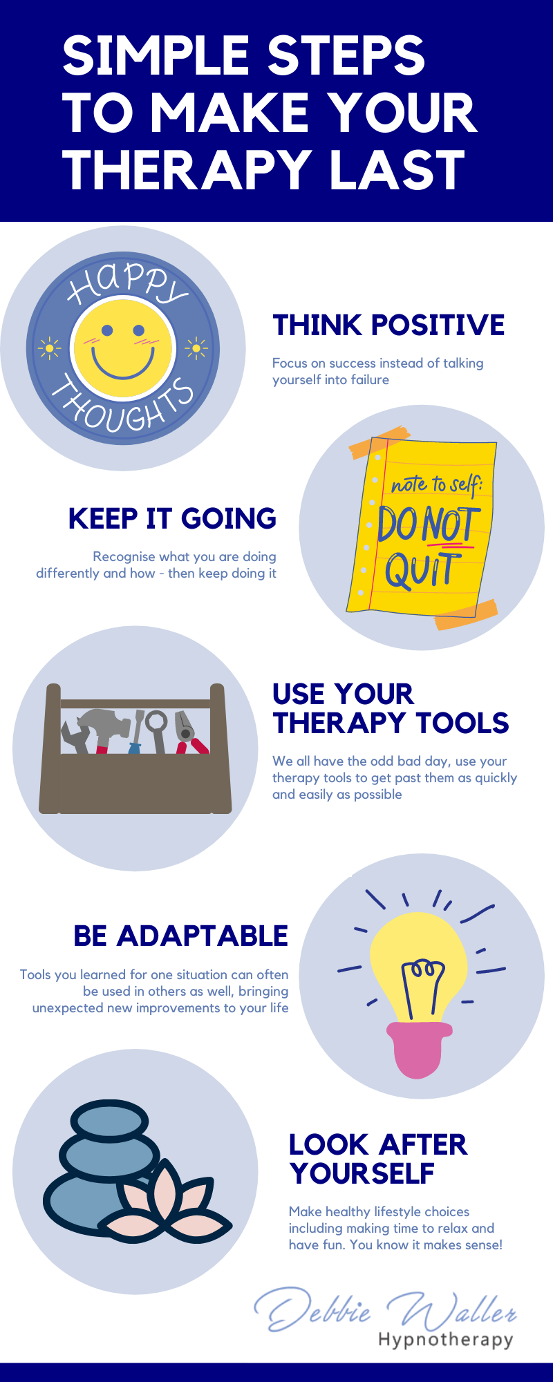 infographic - how to make sure your therapy lasts
